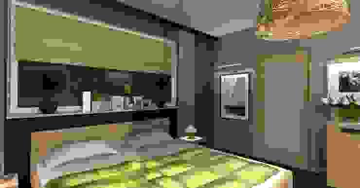 sypialnia od Wizja Wnętrza - projekty i aranżacje