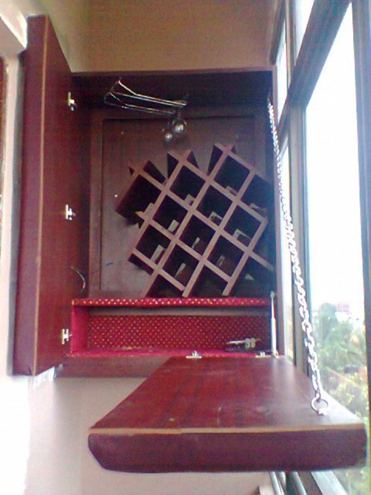 Bar Counter in navi mumbai project Alaya D'decor Wine cellar Leather