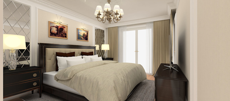 A.G. Evi Klasik Yatak Odası Kerim Çarmıklı İç Mimarlık Klasik