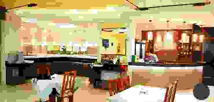 Buffet e Bar Restaurante Bares e clubes modernos por EDW Design de Interiores | LightDesign Moderno