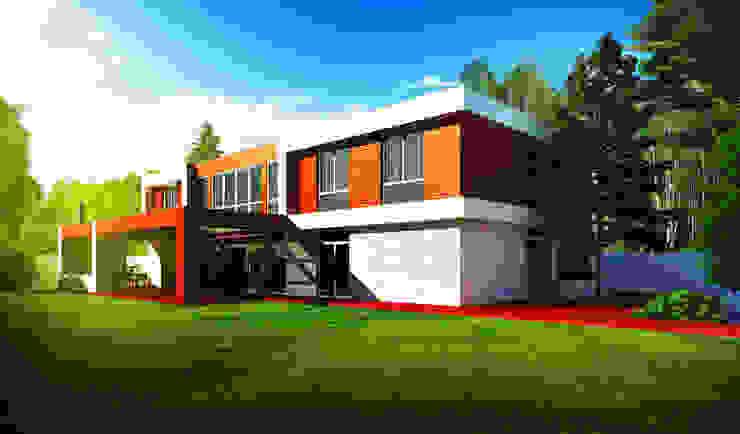 Коттедж в Подмосковье - Ximki-house Дома в стиле модерн от Sboev3_Architect Модерн