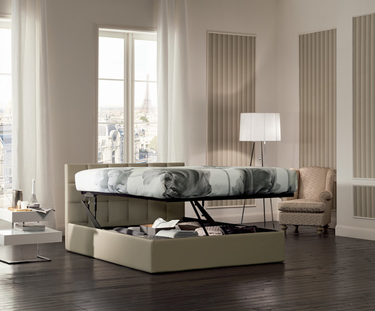 SUPER STORAGE BEDS: Camera da letto in stile  di OGGIONI - The Storage Bed Specialist