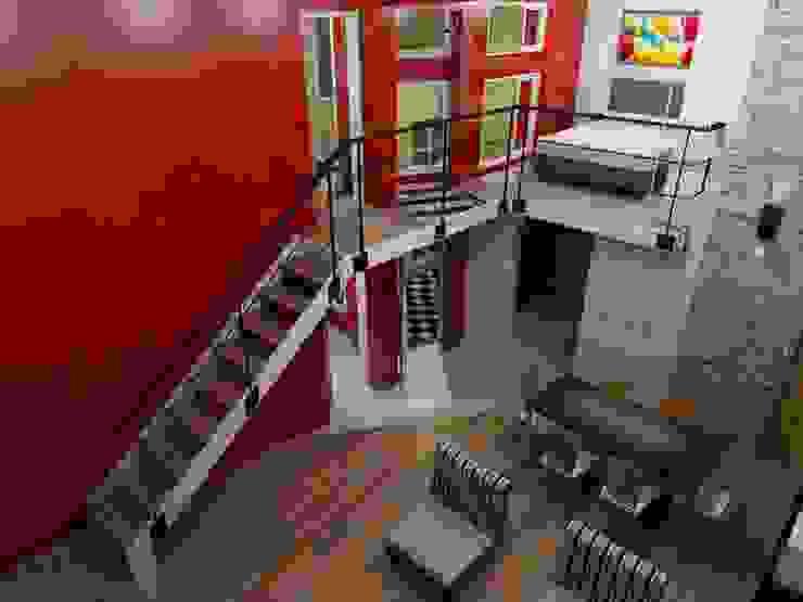 Renders de proyecto Livings de estilo minimalista de Area61 Arquitectura Minimalista