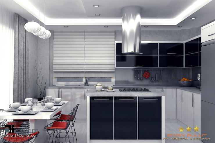 3d görsel hazırlama Modern Mutfak EN+SA MİMARİ TASARIM DEKORASYON MOB.İNŞ.SAN. VE TİC .LTD. ŞTİ Modern