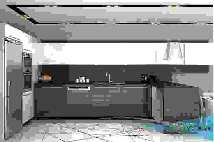 3d görsel hazırlama Klasik Mutfak EN+SA MİMARİ TASARIM DEKORASYON MOB.İNŞ.SAN. VE TİC .LTD. ŞTİ Klasik Ahşap Ahşap rengi