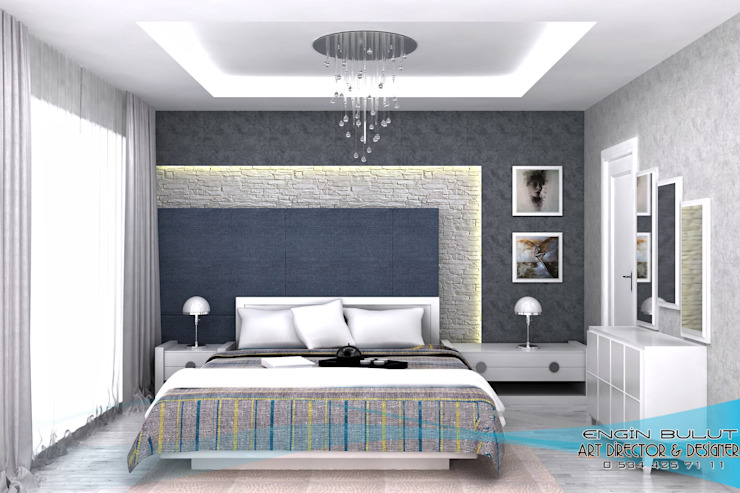 Bedroom by EN+SA MİMARİ TASARIM DEKORASYON MOB.İNŞ.SAN. VE TİC .LTD. ŞTİ