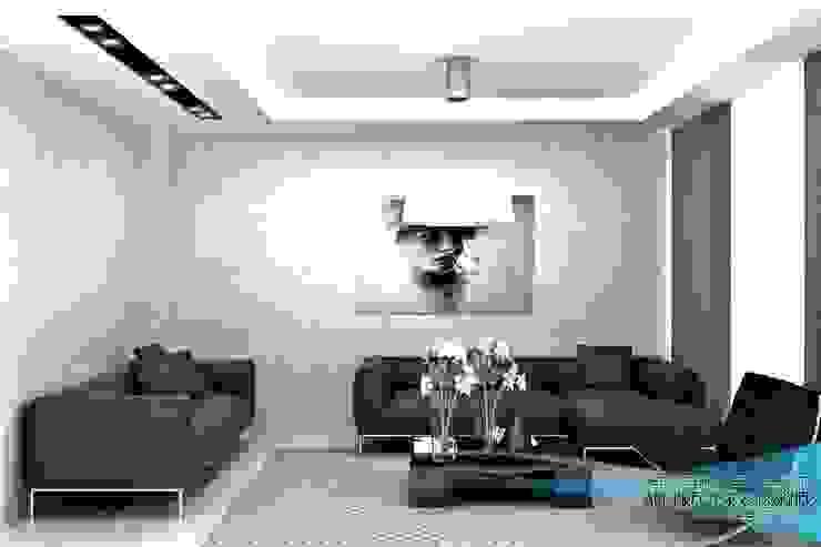 3d görsel hazırlama Modern Oturma Odası EN+SA MİMARİ TASARIM DEKORASYON MOB.İNŞ.SAN. VE TİC .LTD. ŞTİ Modern Ahşap-Plastik Kompozit