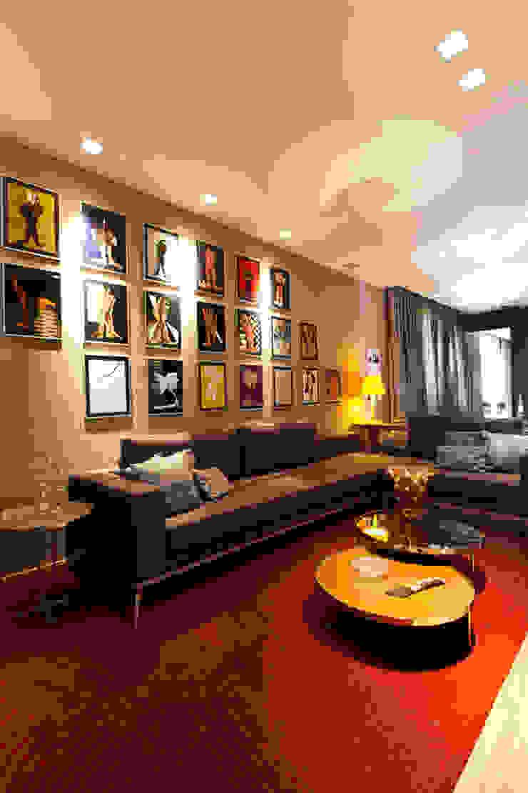 Sala de estar e living Salas de estar modernas por Flaviane Pereira Moderno