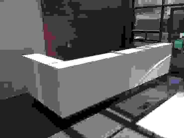 ECOTOWER - Mueble recepción de Mako laboratorio Moderno Madera Acabado en madera
