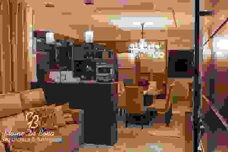 Projeto de arquitetura de interiores residencial. Cozinhas modernas por Elaine de Bona Arquitetura e Interiores Moderno