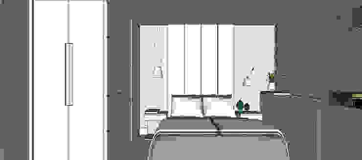 Cobertura Barra Bonita Quartos modernos por Duplex Interiores Moderno