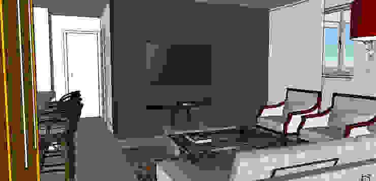 Cobertura Barra Bonita Salas de estar modernas por Duplex Interiores Moderno