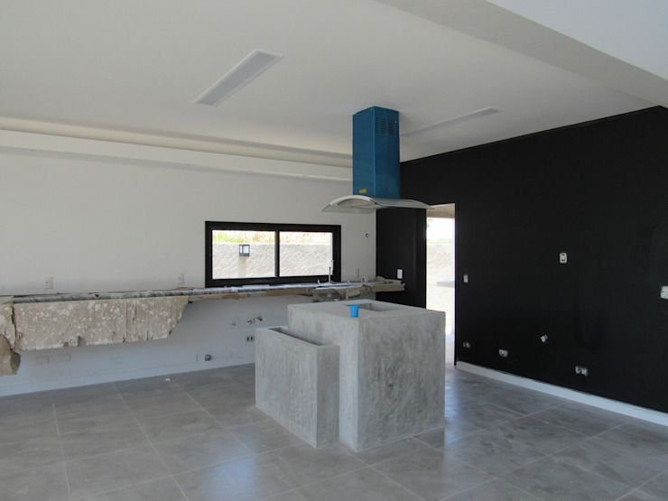 Projeto Residencial Contemporâneo Cozinhas minimalistas por Gloria Cabo Arquitetura Minimalista Concreto