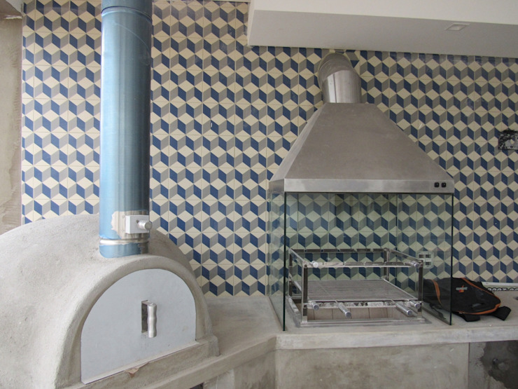 Projeto Residencial Contemporâneo Varandas, alpendres e terraços minimalistas por Gloria Cabo Arquitetura Minimalista Concreto