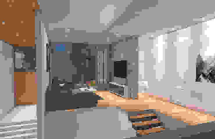 Casa Barcelona Pasillos, vestíbulos y escaleras modernos de Lozano Arquitectos Moderno Piedra