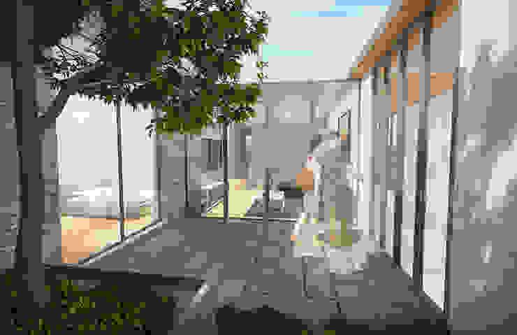 Casa Barcelona Jardines modernos de Lozano Arquitectos Moderno Piedra