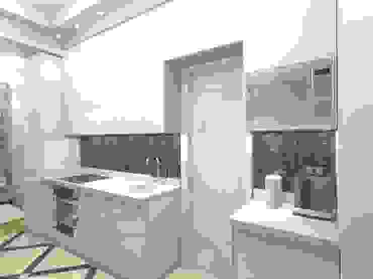 Квартира 57,9 кв.м. в Москве: Кухни в . Автор – АМСД, Классический