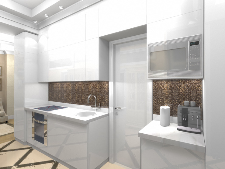 Квартира 57,9 кв.м. в Москве Кухня в классическом стиле от АМСД Классический