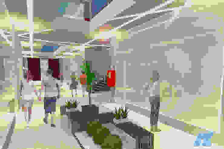 Centro Comercial e Empresarial Ikehara Edifícios comerciais modernos por NEBO Arquitetura Moderno