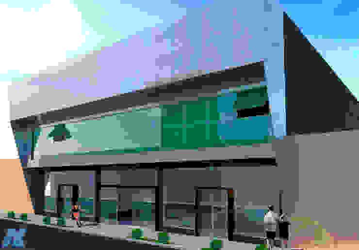 Centro Comercial e Empresarial Ikehara Espaços comerciais modernos por NEBO Arquitetura Moderno