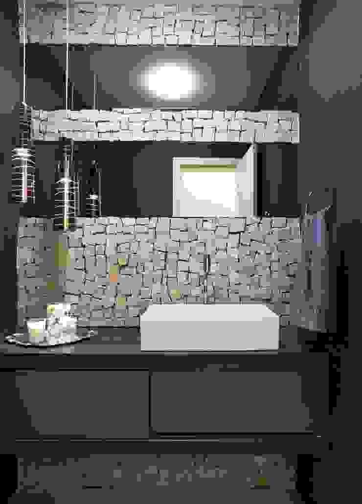 Lavabo por Gislane Lima - Interior Design Moderno Pedra