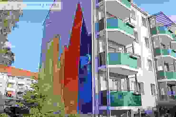 Complesso d'uffici in stile minimalista di Wandgestaltung Graffiti Airbrush von Appolloart Minimalista Cemento