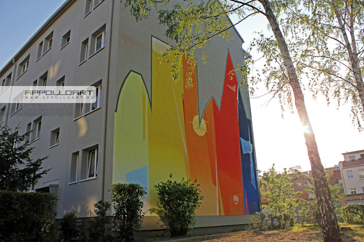 Wandgestaltung Graffiti Airbrush von Appolloart Offices & stores Concrete Multicolored