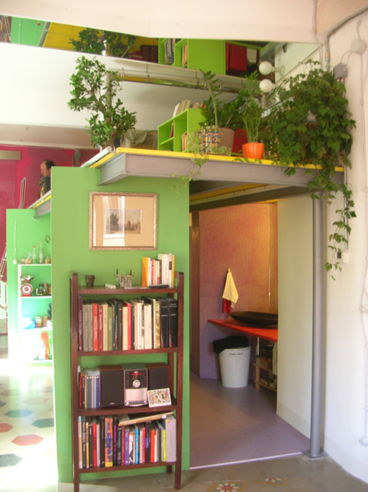 Di Origine Progettuale DOParchitetti Moderne Wohnzimmer Grün