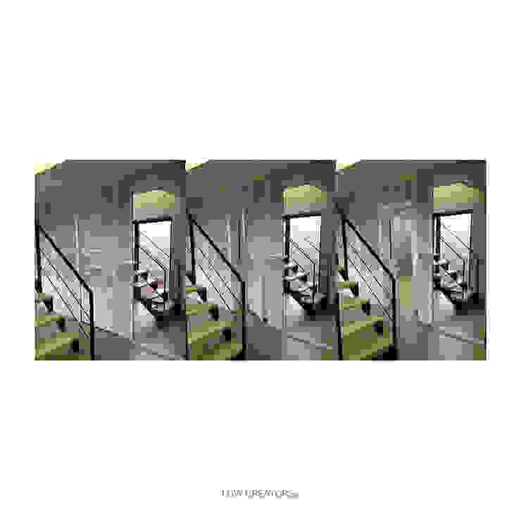 Salas multimedia modernas de LOW CREATORs Moderno