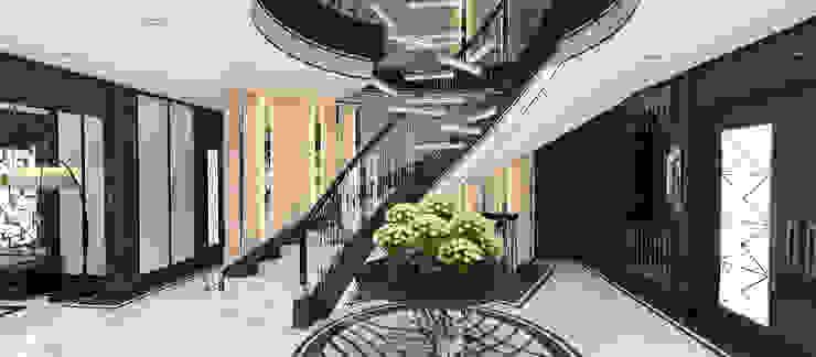 A.U.D EVİ Modern Koridor, Hol & Merdivenler Kerim Çarmıklı İç Mimarlık Modern