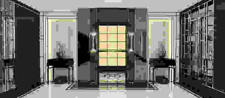 Couloir, entrée, escaliers modernes par Kerim Çarmıklı İç Mimarlık Moderne
