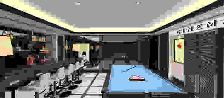 A.U.D EVİ Modern Multimedya Odası Kerim Çarmıklı İç Mimarlık Modern