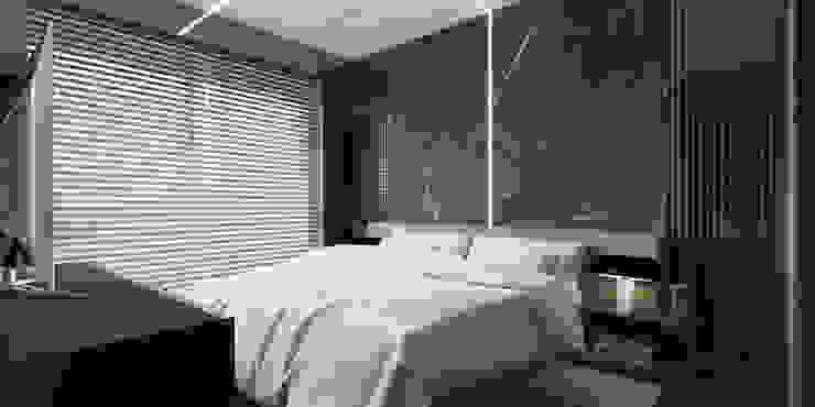 A.U.D EVİ Modern Yatak Odası Kerim Çarmıklı İç Mimarlık Modern