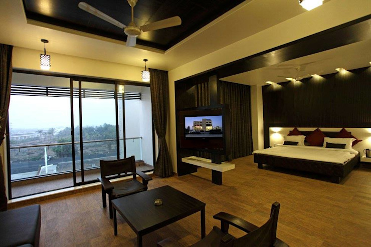 Hotel The Grand Daksh Modern style bedroom by RUST the design studio Modern