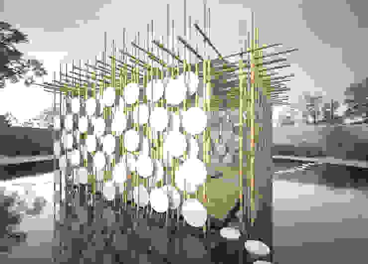 Bamboo Spirit. Concurso internacional World Bamboo Design Competition 2014 Projecto Finalista na categoria <q>Architecture</q> Dezembro 2014 por João Araújo Sousa & Joana Correia Silva Arquitectura