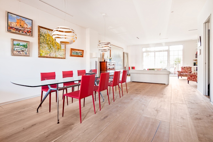 Colonial style dining room by Tarimas de Autor Colonial Wood Wood effect