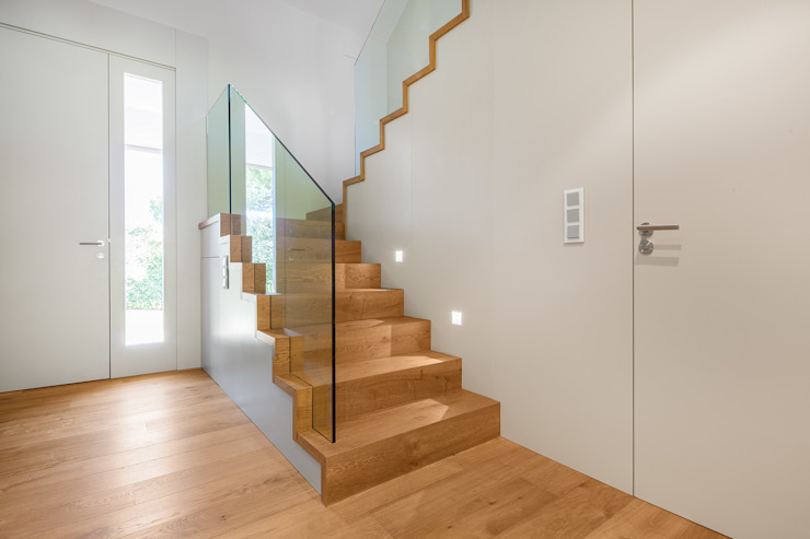 Modern Corridor, Hallway and Staircase by Tarimas de Autor Modern Wood Wood effect