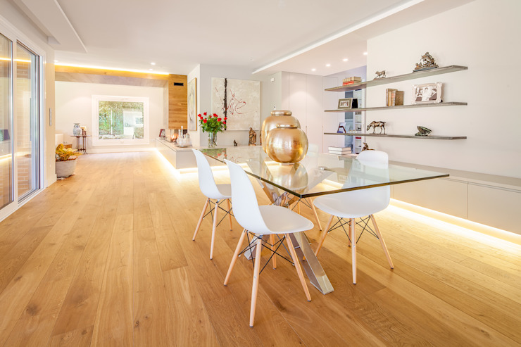 Dining room by Tarimas de Autor, Modern Wood Wood effect