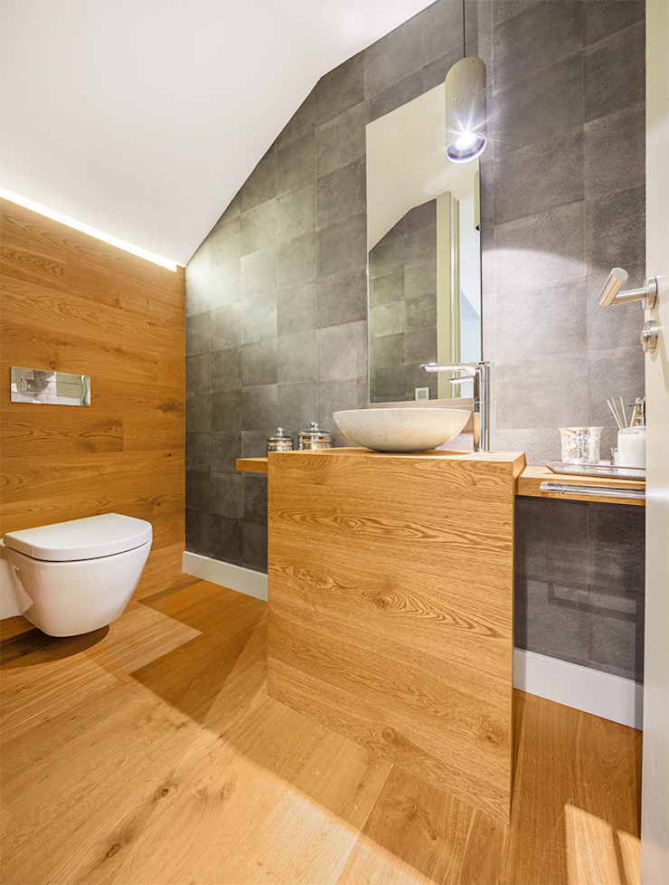 Modern style bathrooms by Tarimas de Autor Modern Wood Wood effect