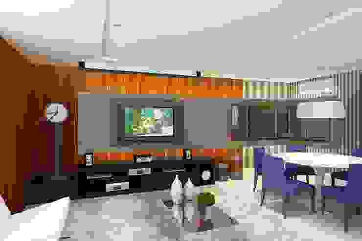 Apartamento (1) em Blumenau - SC - Brasil Salas de estar modernas por Modulo2 Arquitetos Associados. Moderno MDF
