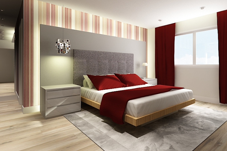 Modulo2 Arquitetos Associados.의  침실, 모던 MDF