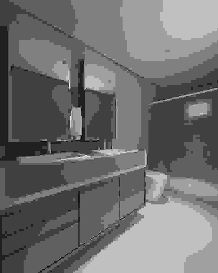 Apartamento (1) em Blumenau – SC – Brasil Banheiros modernos por Modulo2 Arquitetos Associados. Moderno Quartzo