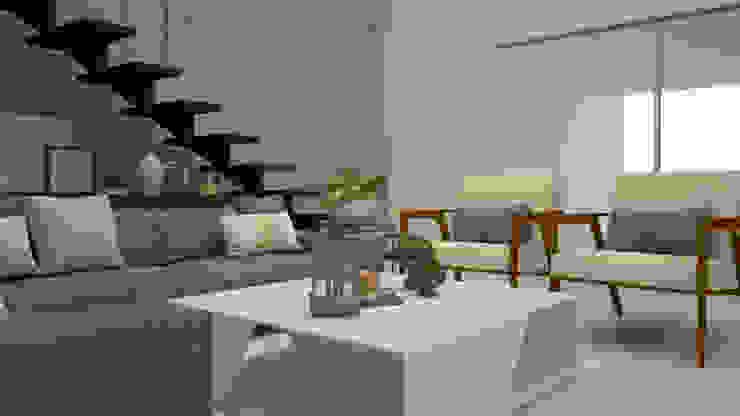 Casa Dzitya Salones modernos de CONTRASTE INTERIOR Moderno