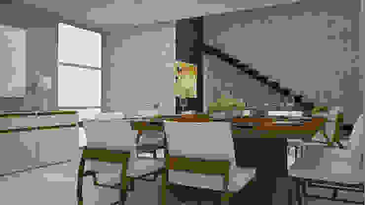 Casa Dzitya Comedores modernos de CONTRASTE INTERIOR Moderno