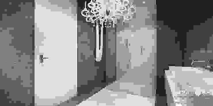 Projekt wnętrza nowoczesnego apartamentu w Warszawie - łazienka Nowoczesna łazienka od ArtCore Design Nowoczesny