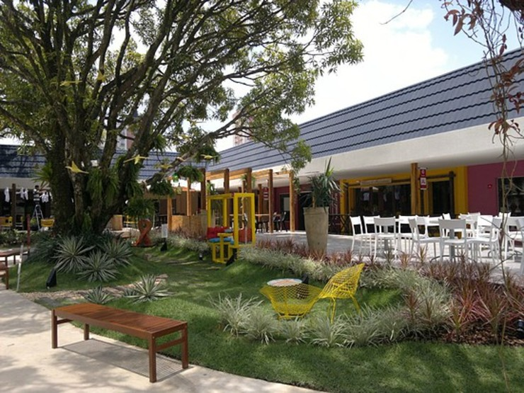 Jardim Odara Centros de exposições rústicos por Marcos Assmar Arquitetura | Paisagismo Rústico