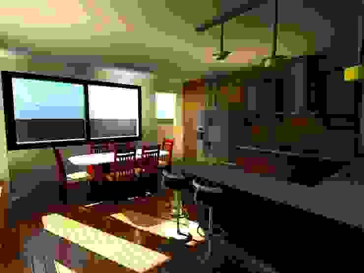 Casa Sanchez Cocinas de estilo moderno de Arquitecto Eduardo Carrasquero Moderno