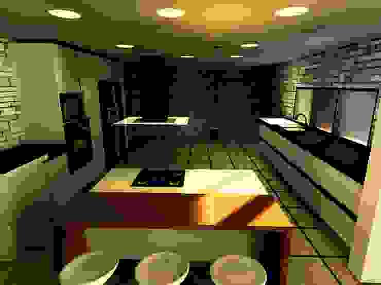 Casa Navarro Arquitecto Eduardo Carrasquero Cocinas de estilo moderno