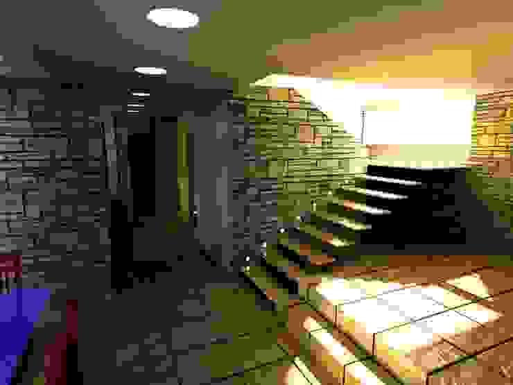 Casa Navarro Arquitecto Eduardo Carrasquero Pasillos, vestíbulos y escaleras de estilo moderno