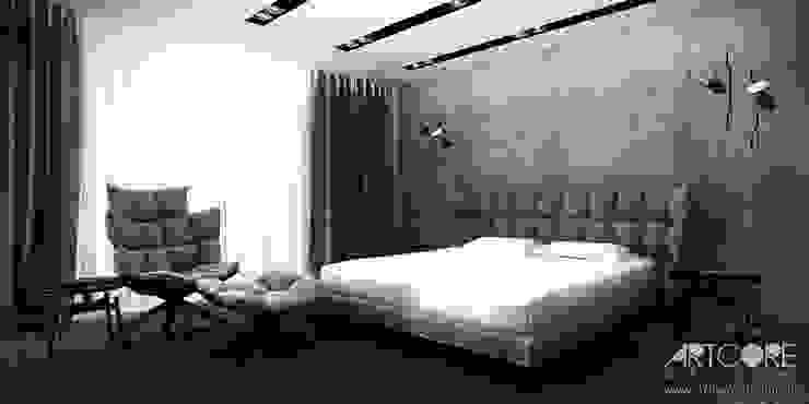 White Rabbit – Projekt wnętrza nowoczesnego domu Nowoczesna sypialnia od ArtCore Design Nowoczesny
